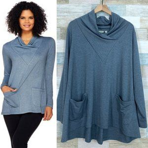 LOGO Lounge French Terry Cowl Top